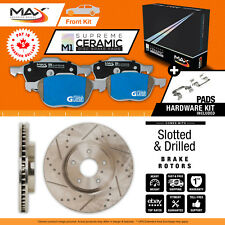 2008 Jeep Grand Cherokee Non SRT-8 Slotted Drilled Rotor M1 Ceramic Pads Front