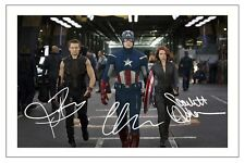 SCARLETT JOHANSSON JEREMY RENNER CHRIS EVANS AVENGERS SIGNED PHOTO PRINT