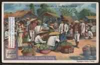 Fruit Vegetable Market Batavia Java Indonesia c1907 Trade Ad Card