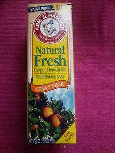 21 Oz. ARM & HAMMER Carpet Deodorizer with Baking Soda NATURAL FRESH Citrus