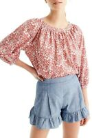 J.CREW $98 The Perfect Top in Liberty Arts Junes Meadow Floral Size Small