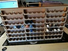 Wall mounted Paint Rack holds 105 pots  GW Humbrol army painter Vallejo bottles