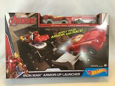 Marvel Avengers Iron Man Hot Wheels Armor-up Launcher Play Set