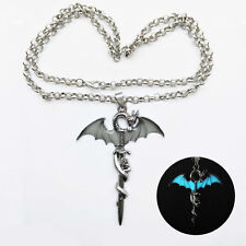 Dragon Knight Sword Luminous Pendant Chain Necklace Unisex Jewelry Death Knight