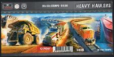 2008 AUSTRALIAN STAMP BOOKLET HEAVY HAULERS 20 x 50c STAMPS MUH