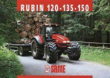 Prospekt Same Rubin 120 135 150 6 01 2001 Trecker Schlepper Traktor tractor Ital