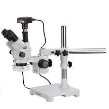 Amscope 35 180x Simul Focal Stereo Microscope14mpcamerafluorescent Ring Light