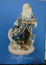 "49-482 Fitz & Floyd 2015 Bristol Holiday Santa Figurine 18"" Tall New In Box"