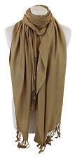 foncé or haute qualité pashmina châle écharpe étole enveloppant hijab 100%