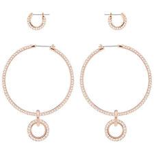Stone Pierced Earring Set White Rose Gold Plating 2018 Swarovski Jewelry 5426004