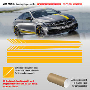 Mercedes Benz AMG C class edition 1 design Racing stripes fit to any C class MB