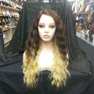 Loose Wave Long, Side Part Lace Front Wig, Deep Part, Gradual mix Ombre Color
