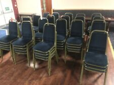 More details for banqueting chairs. stackable navy blue. job lot of 75 for restaurant, conference