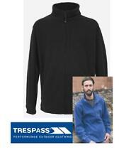 Mens Trespass Black Strength Fleece Jacket Full Length Zip RRP £19.95