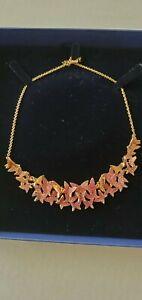 Swarovski 5368426 Lilia Large Statement Necklace Rose Gold Butterflies NIB