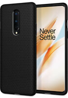 OnePlus 8 (2020) | Spigen®[Liquid Air] Matte Black Shockproof Slim Case Cover