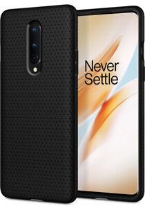 OnePlus 8 (2020) | Spigen®[Liquid Air] Matte Black Shockproof Slim Case Cover