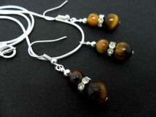 Handmade Silver Plated Tigers Eye Costume Jewellery Sets