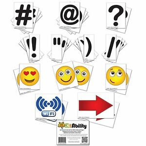 Get Social 4 Inch Letter Set for Sidewalk Signs # @ Emoticons Punctuation Arrows