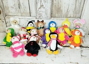Lot of 15 Ganz Wee Bear Village collectible bears in costume dressed as animals
