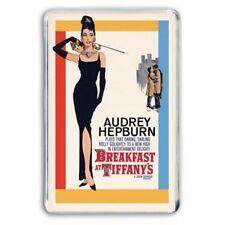 AUDREY HEPBURN- BREAKFAST AT TIFFANY'S RETRO POSTER ART  JUMBO FRIDGE MAGNET