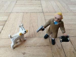 """Tim und Struppi / Tintin: """"Comic Spain""""-Figuren Tim+Fernglas, Struppi+Knochen"""