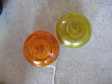 Lot of 2 Vintage Duncan Gold Orange and Yellow Yo-yos