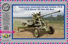 PST 1/72 Soviet 72-K 25 mm anti-AEREI PISTOLA # 72085
