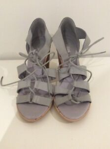 Mollini Leather Heels Grey New Size 38 #105