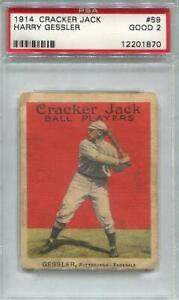 1914 Cracker Jack #59 Harry Gessler PSA 2 *1870