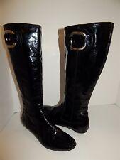 0e38ab28f32 Attilio Giusti Leombruni AGL Black Patent Tall Boots 38.5 US sz 8