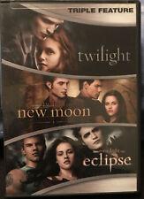 The Twilight Saga DVD TRIPLE FEATURE Twilight New Moon Eclipse Kristen Stewart