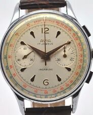 Avia Gents chronograph mechanical manual wind watch, landron Cal 149 movement
