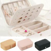 Portable Travel Jewelry Box Leather Jewellery Ring Organizer Case Storage