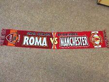RARE TREBLE 2007/08 Roma V Manchester United Champions League Football Scarf