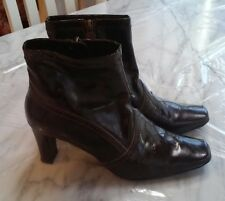 ETIENNE AIGNER (Valid) Women's Brown Faux Leather High Heel Ankle Boots 6.5M