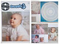 Sirdar Knitting & Crochet Pattern Book 112 25 Snuggly Designs Baby Shawl Vintage