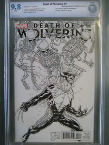 Death of Wolverine #1 (2014) Quesada Sketch Retail Incentive CBCS 9.8 1:500 CGC