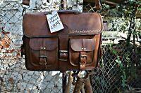 Bag Leather Vintage Shoulder Purse Crossbody Brown Tote Large Brown Handbag New