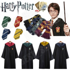 Harry Potter Hogwarts Adult Child Robe Cloak Halloween COS Costumes Party Xmas.