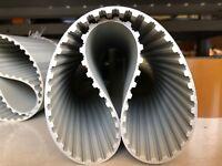 Zahnriemen Polyurethan PU mit Stahlzugträgern T10 1240 mm 124 Zähne 10-50 Breit