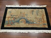 3x5 CHINESE RUG ANTIQUE ART DECO PICTORIAL AUTHENTIC 100% WOOL ORIENTAL RUG