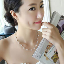 Sexy Clavicle Charm  Pendant Chain Pearl Choker Chunky Statement Bib Necklaces