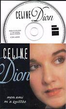 CD CARTONNE CARDSLEEVE 2 TITRES CÉLINE DION MON AMI M'A QUITTE DE 1997 RARE TBE