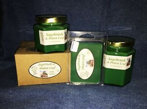 *NEW* Hand Poured Scented Soy Candles Tarts & Votives - Sagebrush & Pinion Leaf