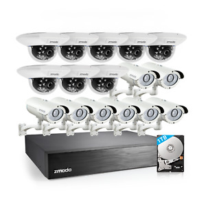 Zmodo 16Pack Indoor Outdoor Security Camera 16CH NVR System w/1TB Hard Drive