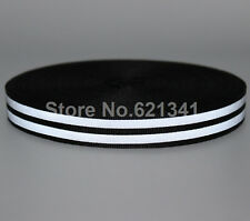 "Silver Reflective Fabric Tape Webbing Strap Sew On Clothes 1"" * 150ft"