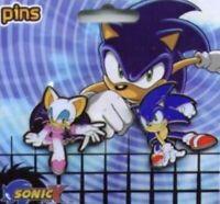 Sonic X Sonic The Hedgehog X Rouge Sega Pin Set Bat Enamel Rare Out Of Print NEW