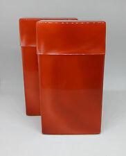 KSI Red Marble Design 100s Size Plastic Flip Top Open Cigarette Case - Lot Of 2