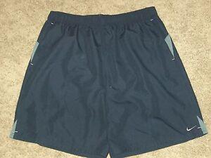 NIKE Navy Blue Polyester Swim Trunks Board Shorts - XXLT Tall - NWT